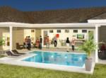 West Bay II pool water 3D
