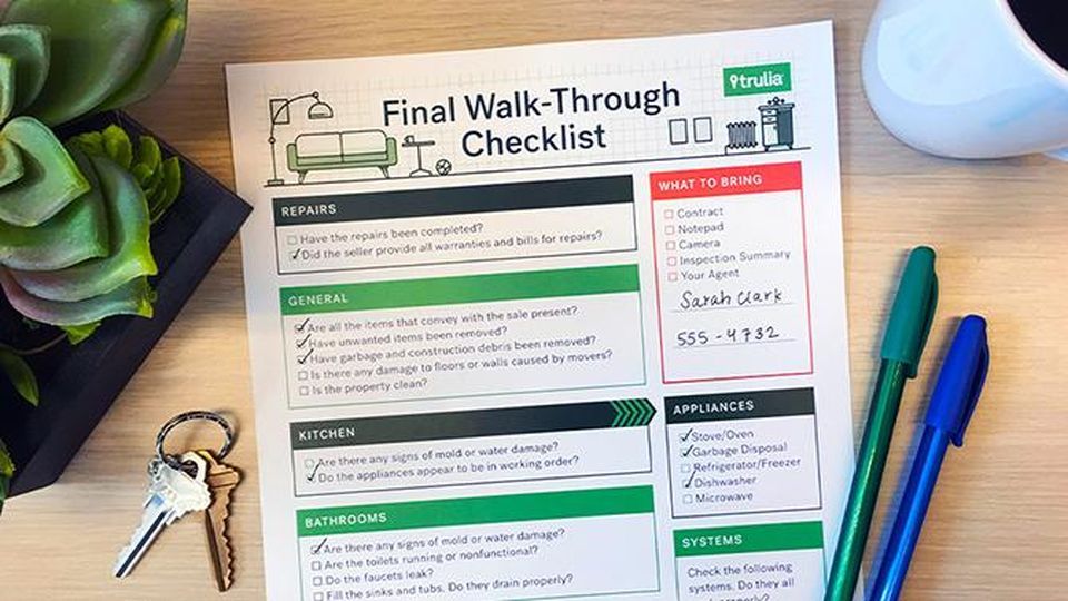 Here's Your Walk-Through Checklist